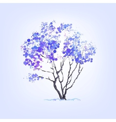 Winter tree of blots background vector
