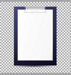 Realistic clipboard with blank paper sheet vector