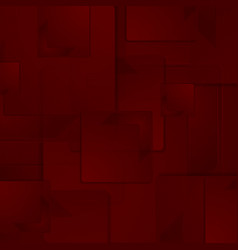 Dark red abstract squares geometric background vector