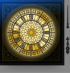 Quadrant of magical victorian clock with lancets vector