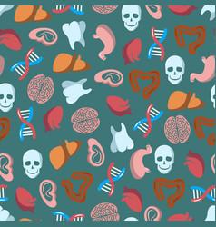 Internal human organs seamless pattern vector