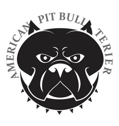 pit bull head vector image