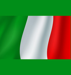 Flag of italy 3d background vector