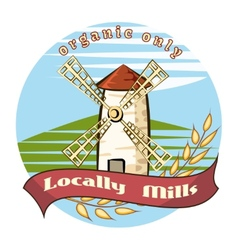 Locally mills - organic only vector