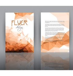 Low poly design for flyer template vector
