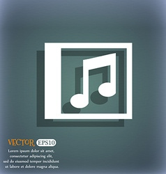 Audio mp3 file icon symbol on the blue-green vector