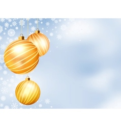Light christmas backdrop with three balls eps 8 vector