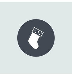 Icon christmas sock for holiday season vector