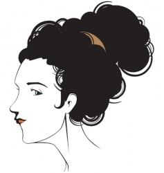female head vector image