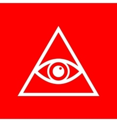 All seeing eye pyramid symbol vector