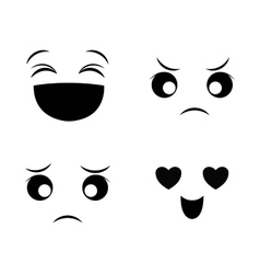 Funny cartoon face vector