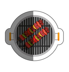 bbq grill delicious food vector image vector image