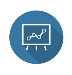 Business Flip Chart Flat Icon vector image