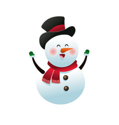 Christmas snowman decoration celebration vector