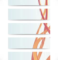 Collection of business cards with swooshes vector