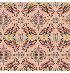 Colorful damask pattern vector image vector image