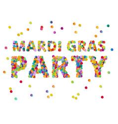 Colorful round confetti carnival mardi gras party vector