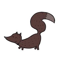 Comic cartoon little wolf cub vector
