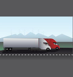Electric trucks with trailers vector