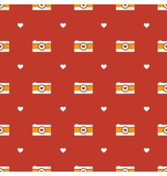 flat hipster cameras seamless pattern vector image vector image