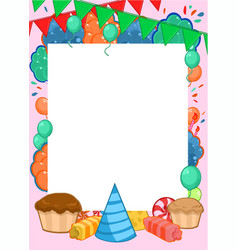 Happy birthday invitation bright template vector