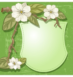 Magnolia and sign vector