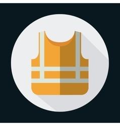 Orange jacket industrial security safety icon vector
