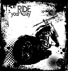 ride your way vector image vector image