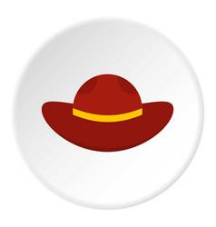 Sea hat icon circle vector