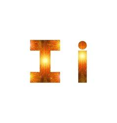 Set of letters firework i vector