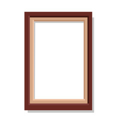 Simplerectangular frame isolated vector