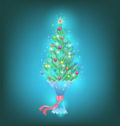 Small fir as a gift vector