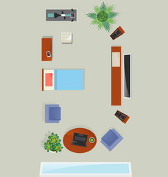 top view living room interior element vector image vector image