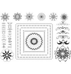 Variants of ornamental frames vector image vector image