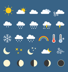 weather icon collection vector image vector image
