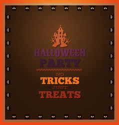 With halloween and halloween symbol vector