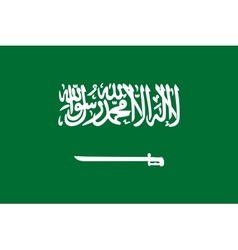 Flag of saudi arabia correct proportion and colors vector