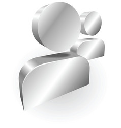 Silver people icon messanger vector