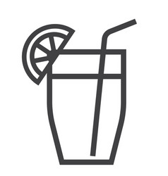 cocktail line icon food and drink vector image