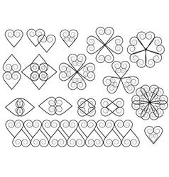 set of vintage decorative elements vector image