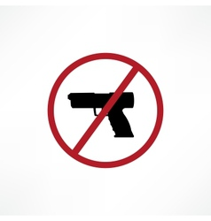 No firearms symbol vector image