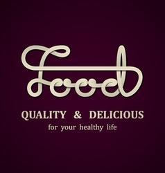 Food calligraphic design template vector