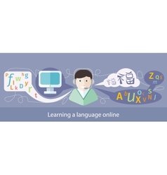 Image of teaching foreign languages vector