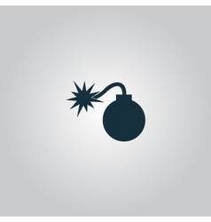 Bomb icon flat eps 10 vector