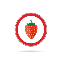 Strawberry red sign vector