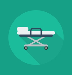 Medical flat icon stretcher vector