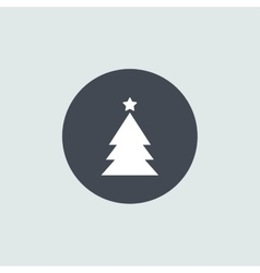 Icon christmas tree for holiday season vector