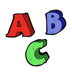 Comic cartoon abc letters vector