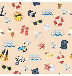 Seamless summer flat pattern vector
