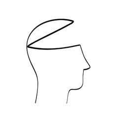Silhouette icon human head design graphic vector